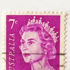Sellos: SELLO DE AUSTRALIA 7 C - 1971 - ISABEL II - USADO SIN SEÑAL DE FIJASELLOS. Lote 271562393