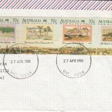 Sellos: CORREO AEREO: AUSTRALIA 1988. Lote 277044008