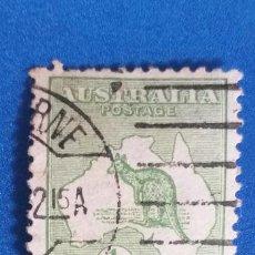 Sellos: AUSTRALIA. AÑO 1913. USADO. YVERT #1. CANGURO Y MAPA. 1/2P. VERDE. Lote 278379113