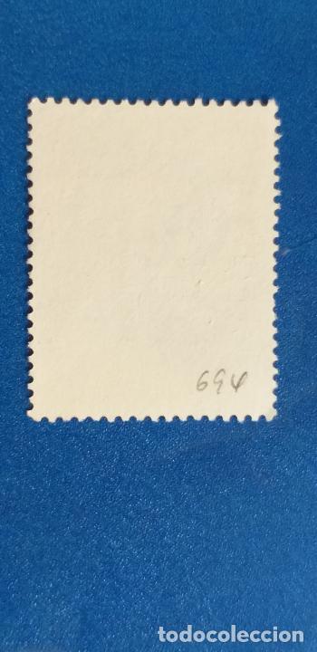 Sellos: AUSTRALIA - MICHEL 705 - YVERT 694 - PÁJAROS - MARTÍN PESCADOR DE COLA BLANCA. (1980). - Foto 2 - 278491028