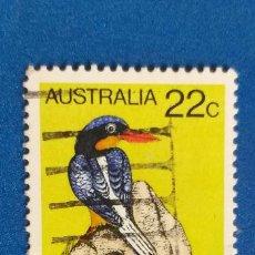 Sellos: AUSTRALIA - MICHEL 705 - YVERT 694 - PÁJAROS - MARTÍN PESCADOR DE COLA BLANCA. (1980).. Lote 278491028