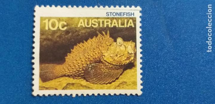 AUSTRALIA. FAUNA, PEZ, STONEFISH. PEZ PIEDRA. YVERT 949 (Sellos - Extranjero - Oceanía - Australia)