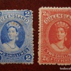 Sellos: COLONIAS GRAN BRETAÑA - AUSTRALIA - QUEENSLAND 1882 - NUEVOS -.. Lote 279369498