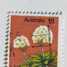 Sellos: SELLO DE AUSTRALIA 18 C - 1975 - FLORES - USADO SIN SEÑAL DE FIJASELLOS. Lote 289237873