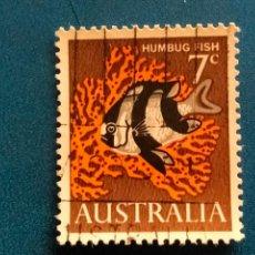 Sellos: AUSTRALIA. FAUNA, PEZ. HUMBUG FISH. YVERT 325.. Lote 289297003