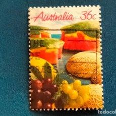 Sellos: USADO. AUSTRALIA. AÑO 1987. YVERT 990. FLORA AUSTRALIANA: FRUTOS. Lote 289298798