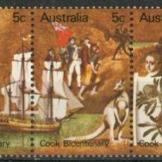 Sellos: AUSTRALIA 1970 IVERT 407/11 *** 200º ANIVERSARIO DESCUBRIMIENTO AUSTRALIA POR CAPITAN COOK - BARCOS. Lote 294157898