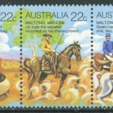 Sellos: AUSTRALIA 1980 IVERT 698/702 *** FOLCLORE AUSTRALIANO (I). Lote 294158678