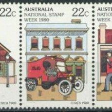 Sellos: AUSTRALIA 1980 IVERT 713/7 *** SEMANA NACIONAL DEL SELLO - ILUSTRACIONES DEL SERVICIO POSTAL. Lote 294159013