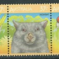 Sellos: AUSTRALIA 1987 IVERT 1012/6 *** FAUNA AUSTRALIANA - MAMÍFEROS Y AVES - SERIE BÁSICA. Lote 294162618