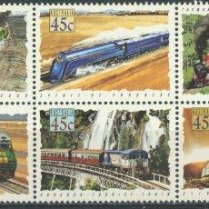Sellos: AUSTRALIA 1993 IVERT 1306/1 *** TRENES DE AUSTRALIA - LOCOMOTORAS DE VAPOR Y DIESEL. Lote 294162978
