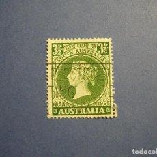 Sellos: AUSTRALIA 1955 - JEFES DE ESTADO -CENTENARIO DEL PRIMER SELLO DE AUSTRALIA DEL SUR - REINA VICTORIA.. Lote 295776588
