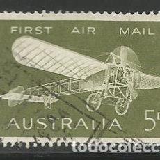 Sellos: AUSTRALIA - EL PRIMERO CORREO AÉREO DE AUSTRALIA 1914 - USADO. Lote 295865488