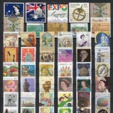 Sellos: LOTE DE 56 SELLOS USADOS DE -AUSTRALIA-,. Lote 296846058