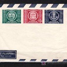 Sellos: AUSTRIA AEROGRAMA TIPO 779/81, U.P.U., 75º ANIVº UNION POSTAL UNIVERSAL, . Lote 10843445