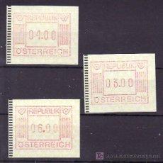 Sellos: AUSTRIA ETIQUETA 1 (3 VALORES DE 3, 4 Y 6) . Lote 11006148