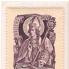 Sellos: AUSTRIA Nº 771 YVERT ET TELLIER MILLENAIRE DE LA NAISSANCE DE SAINT GEBHARD 1949. Lote 9513399