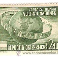 Sellos: AUSTRIA Nº 855 YVERT ET TELLIER SIGNATURE DE TRAITE RENDANTSON INDEPENDANCE A L'ETAT AUTRICHIEN 1955. Lote 27546638