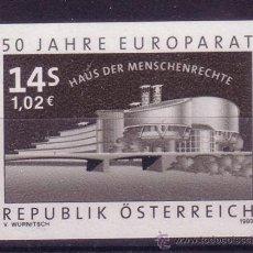 Sellos: AUSTRIA 2110*** PRUEBA EN NEGRO - AÑO 1999 - 50º ANIVERSARIO DEL CONSEJO DE EUROPA. Lote 10330659