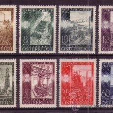 Sellos: AUSTRIA 666/73*** - AÑO 1947 - FERIA DE PRIMAVERA DE VIENA. Lote 25137928