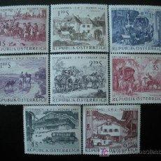 Sellos: AUSTRIA 1964 IVERT 993/1000 *** 15º CONGRESO UNIÓN POSTAL UNIVERSAL EN VIENA - PINTURA - PAISAJES. Lote 27446124