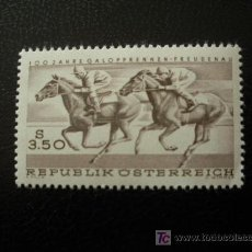 Sellos: AUSTRIA 1968 IVERT 1095 *** CENTENARIO CARRERAS HIPICAS DE FREUDENAU - DEPORTES - CABALLOS. Lote 12919773