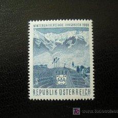 Sellos: AUSTRIA 1968 IVERT 1090 *** UNIVERSIADAS DE INVIERNO EN INSBRUCK - DEPORTES. Lote 12919811