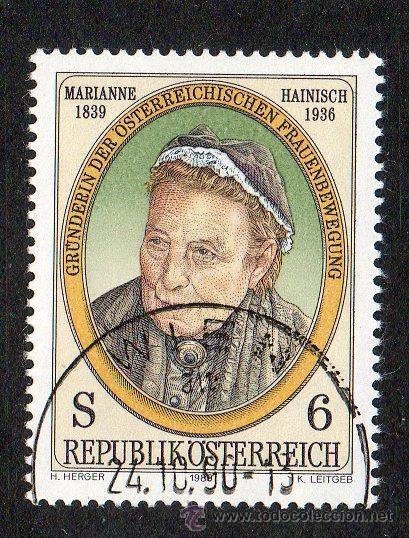 AUSTRIA AÑO 1989 YV 1775*º 150 ANVº DEL NACIMIENTO DE M. HAINISCH - PERSONAJES (Sellos - Extranjero - Europa - Austria)