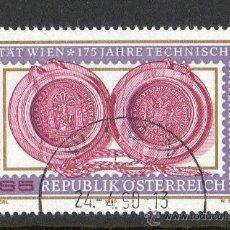 Sellos: AUSTRIA AÑO 1990 YV 1813*º 625 ANVº UNIVERSIDAD VIENA 125 ANVº UNIV. TÉCNICA DE VIENA - EDUCACIÓN. Lote 12981774