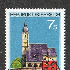 Sellos: AUSTRIA AÑO 1990 YV1814*º 1200 ANVº ANTHERING - IGLÉSIAS - RELIGIÓN - ESCUDOS - ARQUITECTURA. Lote 12981883