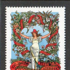 Sellos: AUSTRIA AÑO 1990 YV 1816*º CENTº DEL 1 DE MAYO DÍA DEL TRABAJO - FLORES - FIESTAS POPULARES. Lote 12981920