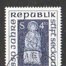 Sellos: AUSTRIA AÑO 1990 YV 1818*º 850 ANVº DE LA ABADÍA DE STIFT SECKAU - RELIGIÓN - ESCULTURA - ARTE. Lote 12981948