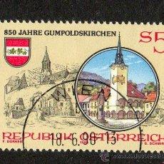 Sellos: AUSTRIA AÑO 1990 YV 1826*º 850 ANVº GUMPOLDSKIRCHEN - ESCUDOS - IGLÉSIAS - RELIGIÓN. Lote 12982169