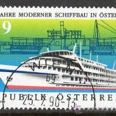 Sellos: AUSTRIA AÑO 1990 YV 1828*º 150 ANVº MODERNA CONSTRUCCIÓN NAVAL EN AUSTRIA - BARCOS. Lote 12982227