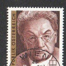 Sellos: AUSTRIA AÑO 1990 YV 1829*º J. F. PERKONIG - PERSONAJES - ESCRITORES - LITERATURA. Lote 12982270