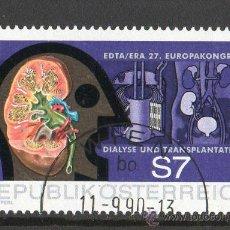 Sellos: AUSTRIA AÑO 1990 YV 1831*º CONGRESO EUROPEO DE DIÁLISIS Y TRANSPLANTES - MEDICINA - SALUD. Lote 12982346