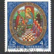 Sellos: AUSTRIA AÑO 1989 YV 1787*º 900 ANVº DE LA ABADÍA DE LAMBACH - RELIGIÓN - PINTURA - ARTE. Lote 12982553