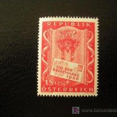 Sellos: AUSTRIA 1956 IVERT 862 *** DÍA DEL SELLO. Lote 25833392