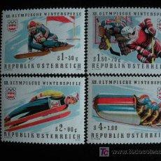 Sellos: AUSTRIA 1975 IVERT 1308/11 *** XXI JUEGOS OLIMPICOS INVIERNO INNSBRUCK. Lote 13585633