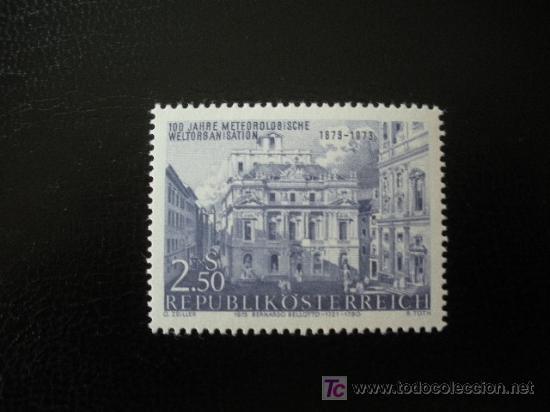 AUSTRIA 1973 IVERT 1252 *** CENTENARIO ORGANIZACIÓN METEOROLOGICA MUNDIAL - PINTURA DE BELLOTTO (Sellos - Extranjero - Europa - Austria)
