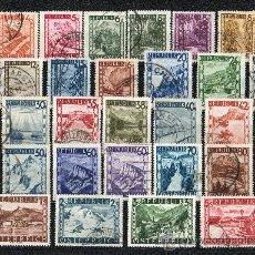 Sellos: AUSTRIA AÑO 1945 YV 600/32ºº VISTAS Y PAISAJES - TURISMO. Lote 26519749