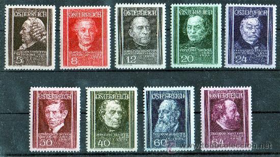AUSTRIA AÑO 1937 YV 506/14* MÉDICOS - PERSONAJES - MEDICINA - SALUD - PROFESIONES (Sellos - Extranjero - Europa - Austria)