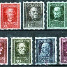 Sellos: AUSTRIA AÑO 1937 YV 506/14* MÉDICOS - PERSONAJES - MEDICINA - SALUD - PROFESIONES. Lote 26631807