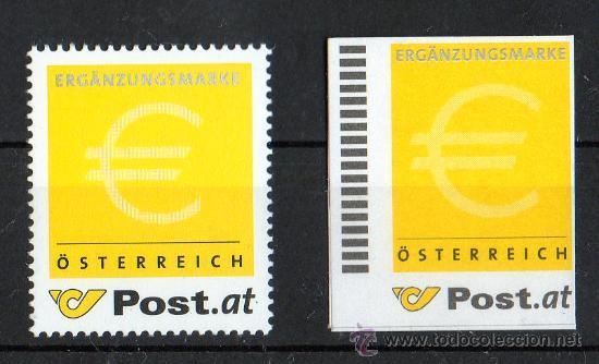 AUSTRIA AÑO 2002 YV *** MI ERG 1 A + 2 A*** 2 VALORES SIN DENOMINACIÓN DE VALOR FACIAL - EUROS (Sellos - Extranjero - Europa - Austria)