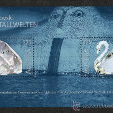 Sellos: AUSTRIA AÑO 2004 MI HB 25*** SWAROVSKI - GEMOLOGÍA - CISNES - FAUNA - AVES - NATURALEZA. Lote 26876341