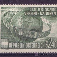 Sellos: AUSTRIA 855* - AÑO 1955 - 10º ANIVERSARIO DE LAS NACIONES UNIDAS. Lote 14967259