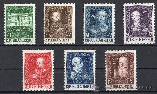 AUSTRIA AÑO 1948 YV 732/38*** 80 ANVº CASA DE ARTISTAS EN VIENA - PERSONAJES - ARQUITECTURA (Sellos - Extranjero - Europa - Austria)