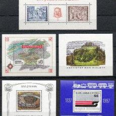 Sellos: AUSTRIA AÑO 1969 1983 1985 1986 1987 - LOTE 5 HB*** ÁRBOLES - TRENES - MAPAS - TEATRO - ARQUITECTURA. Lote 27458162