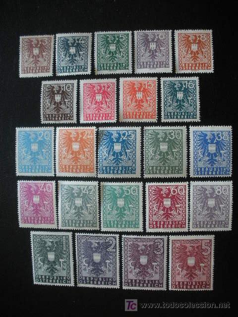 AUSTRIA 1945 IVERT 577/99 *** ESCUDOS (Sellos - Extranjero - Europa - Austria)