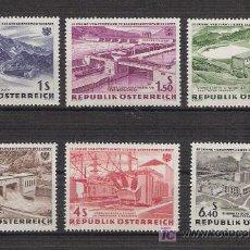 Sellos: AUSTRIA 1962 - 15 ANIVERSARIO NACIONALIZACION DE LA ELECTRICIDAD - YVERT 942/47 ***. Lote 24684860